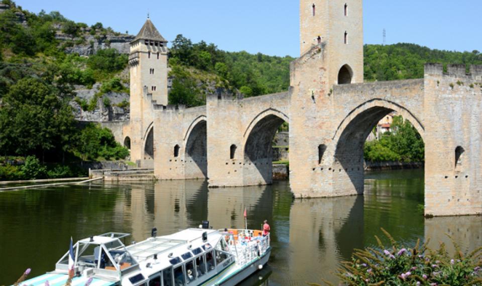 Bateau promenade à Cahors