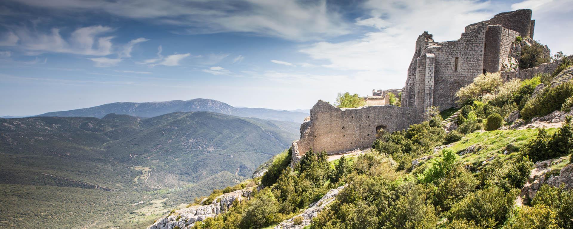 Château de Peyrepertuse dans l'Aude