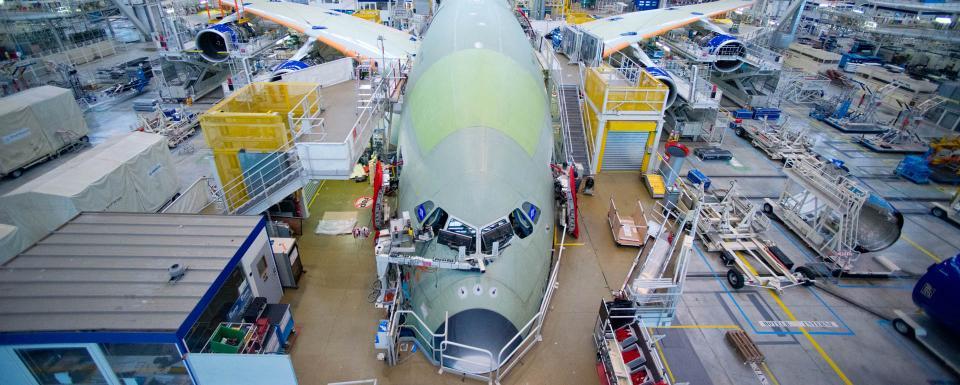 Visite d'Airbus à Toulouse