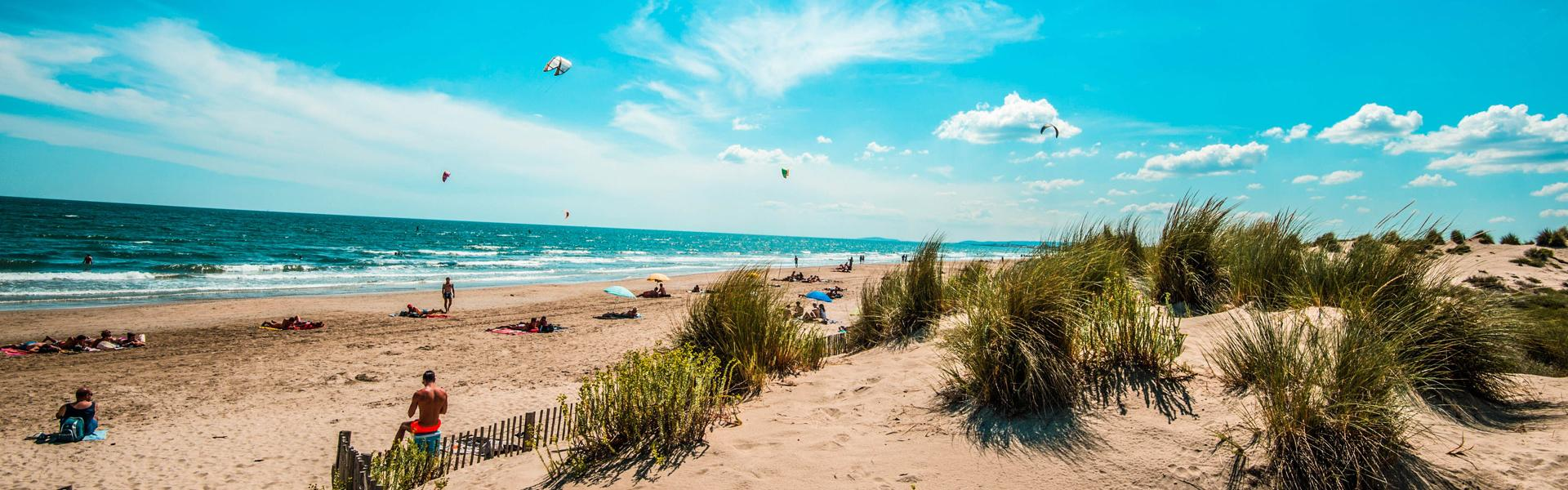 La plage de Carnon