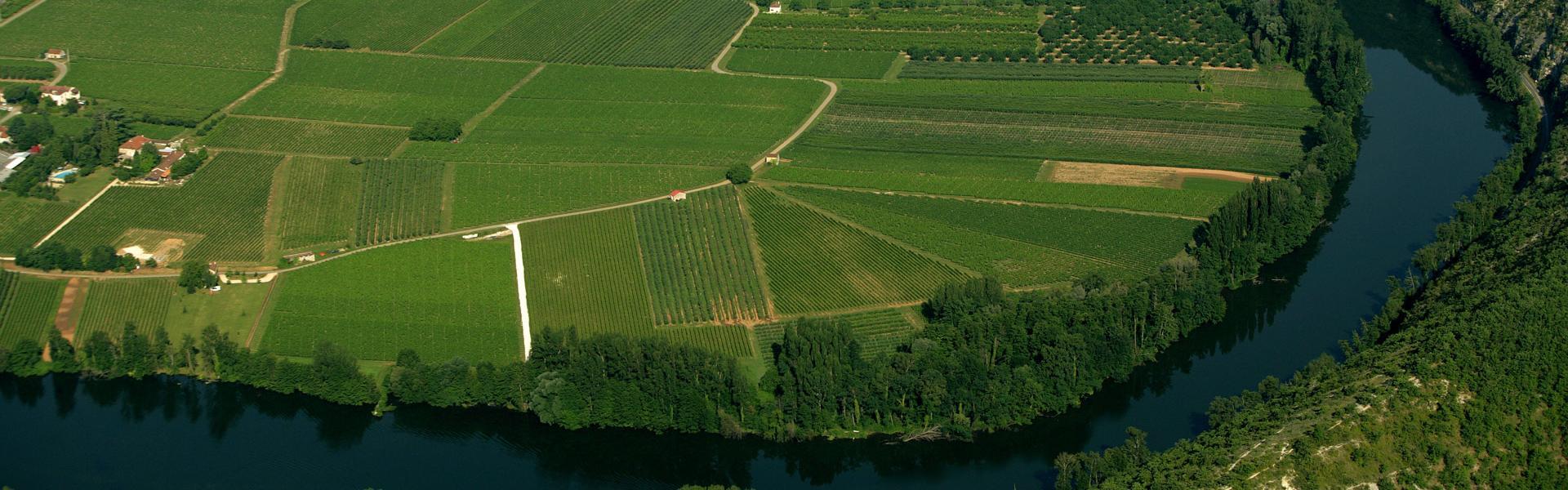 La vallée du Lot en aval de Cahors