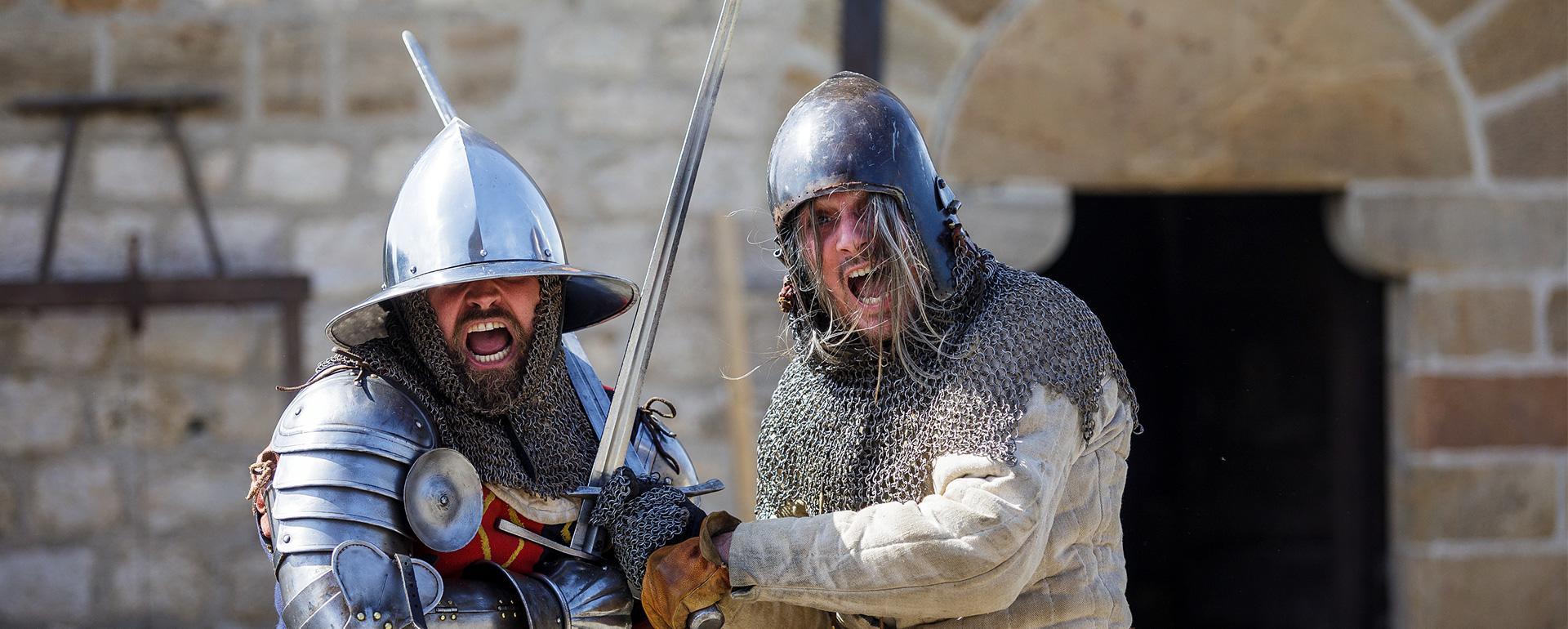Chevaliers au château de Foix
