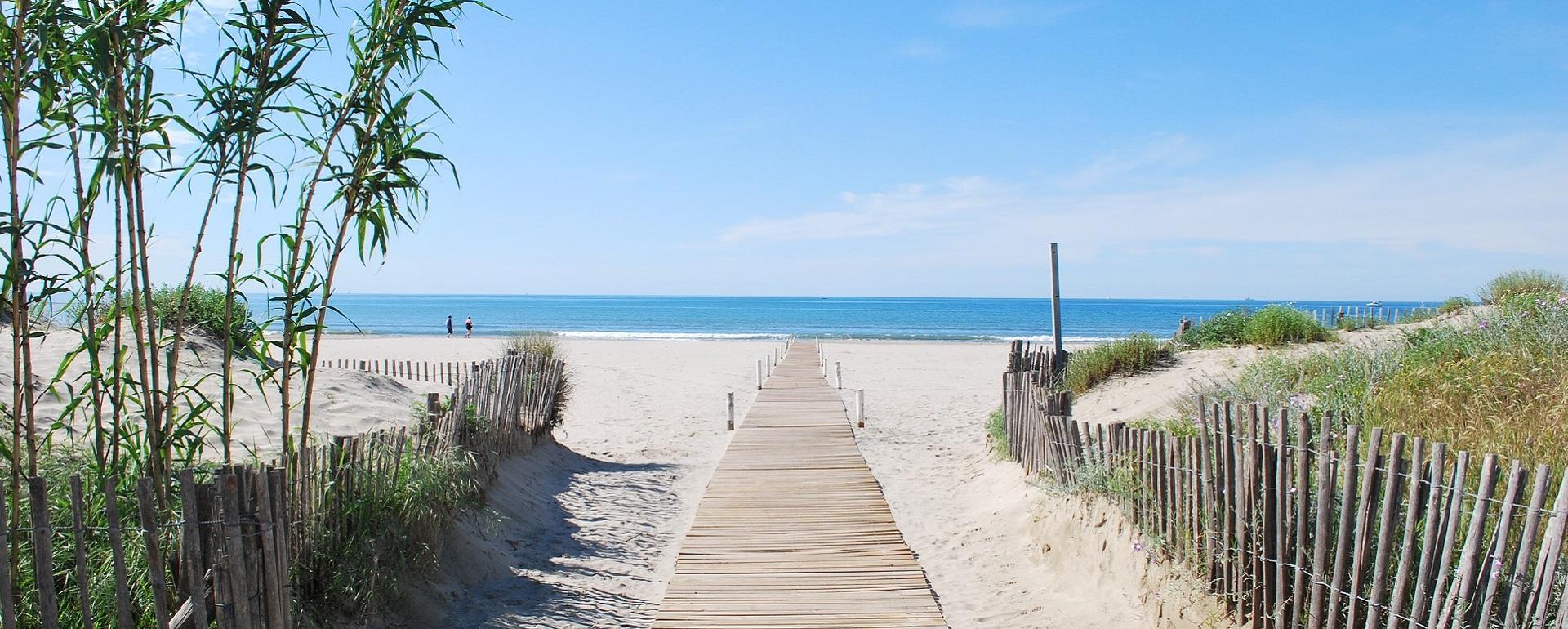La plage à Carnon, près de Montpellier