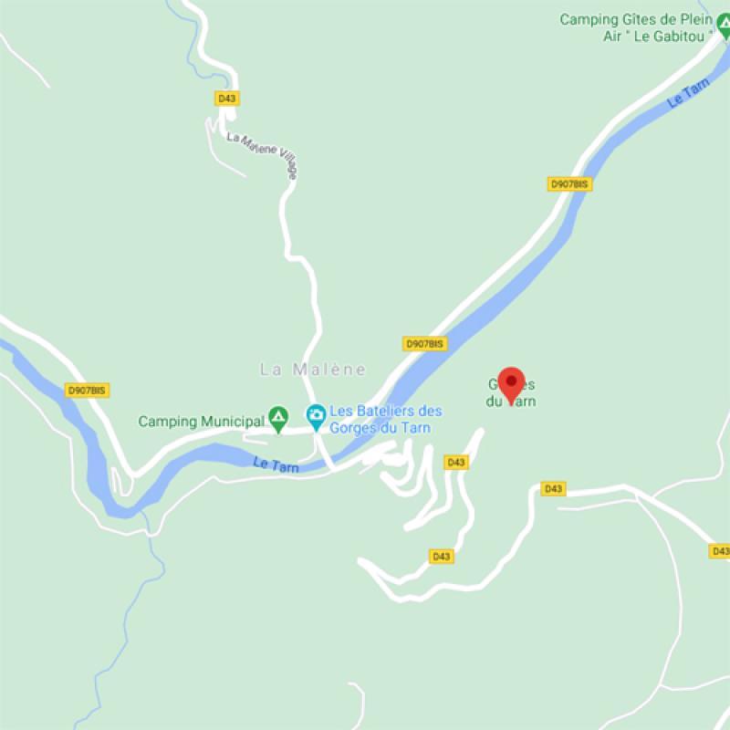 Gorges du Tarn - Carte