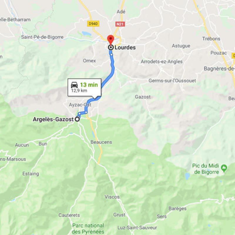 D'Argelès-Gazost vers Lourdes