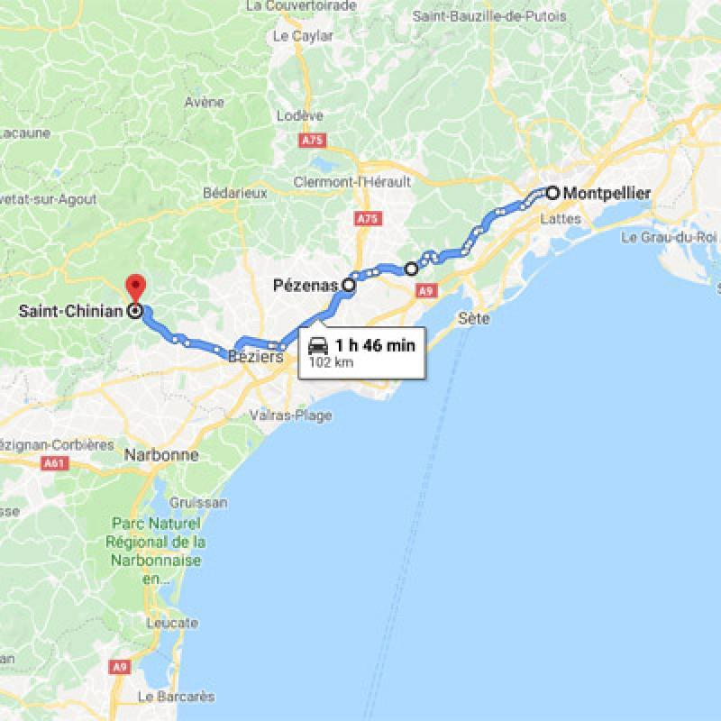 De Montpellier à St-Chinian