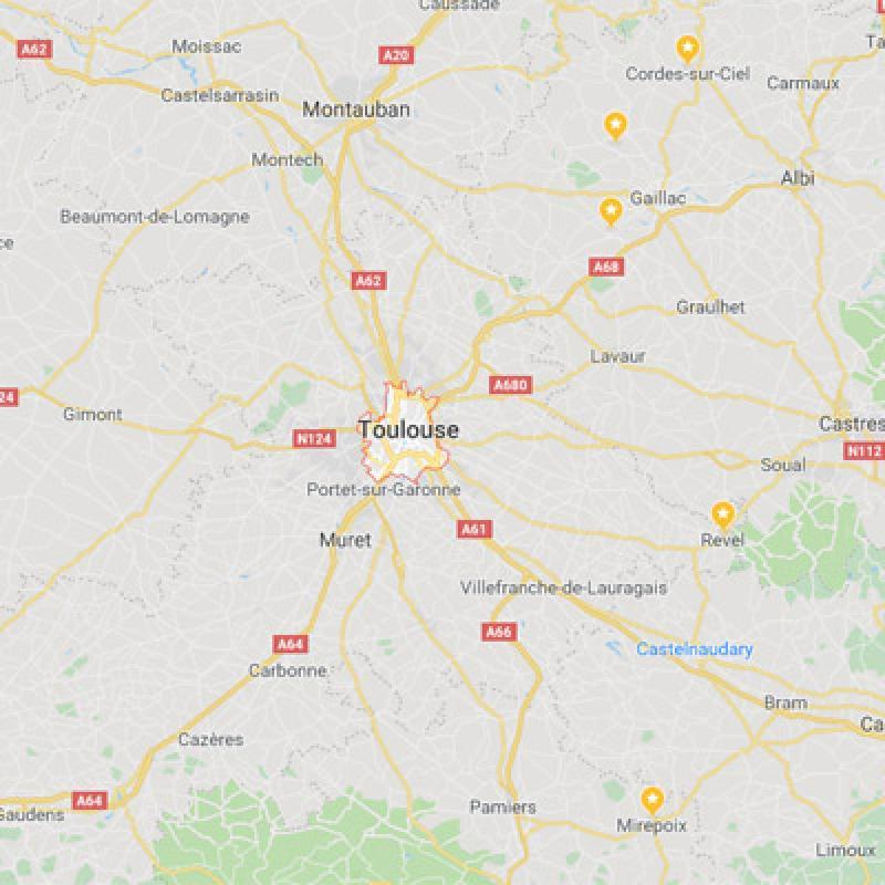 Toulouse - Carte