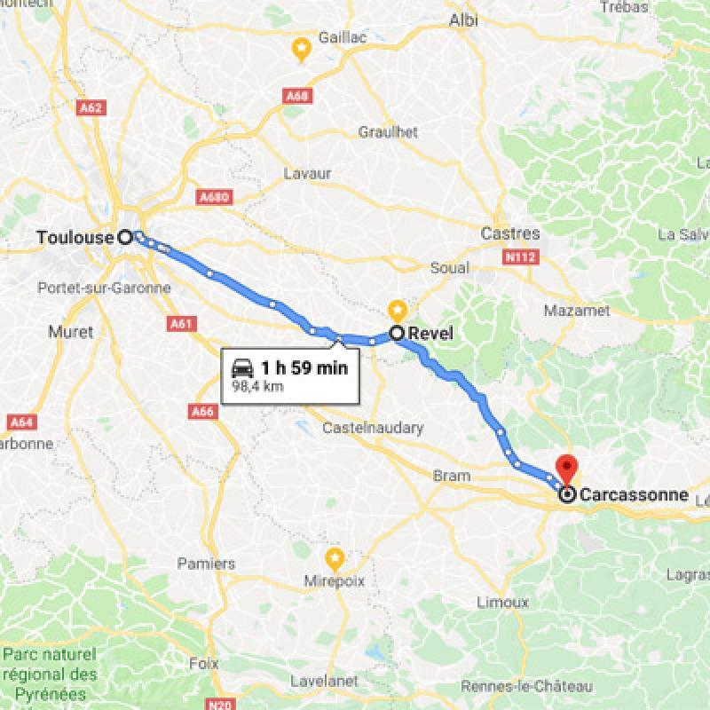 De Toulouse vers Carcassonne
