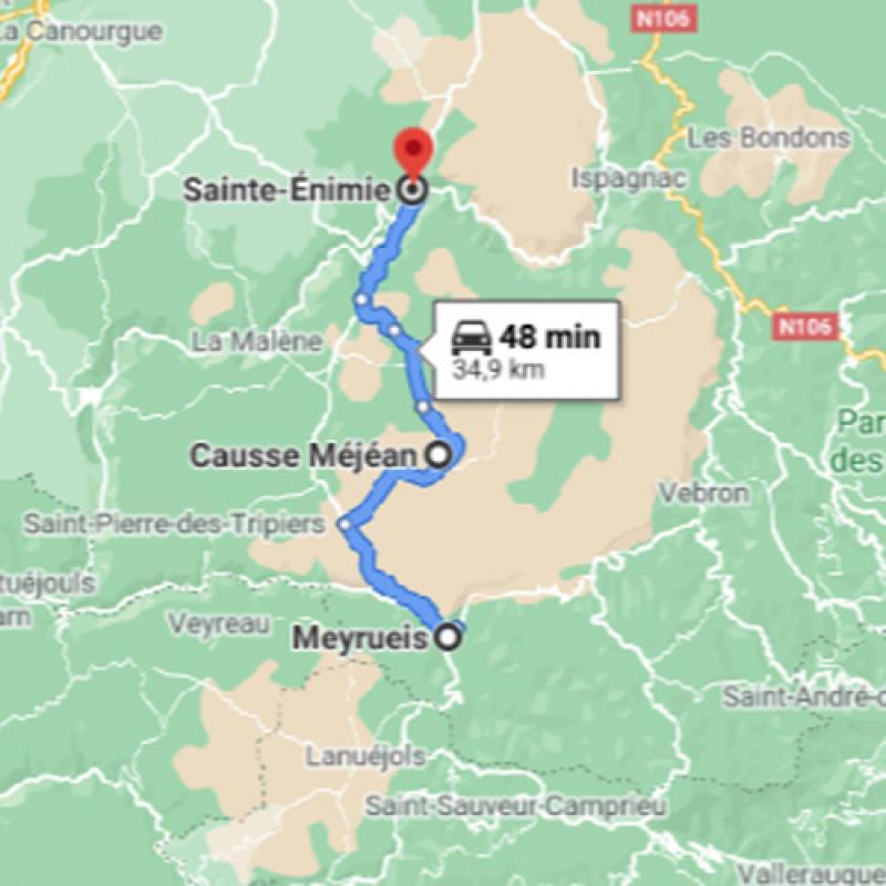 De Meyrueis vers Saint-Enimie