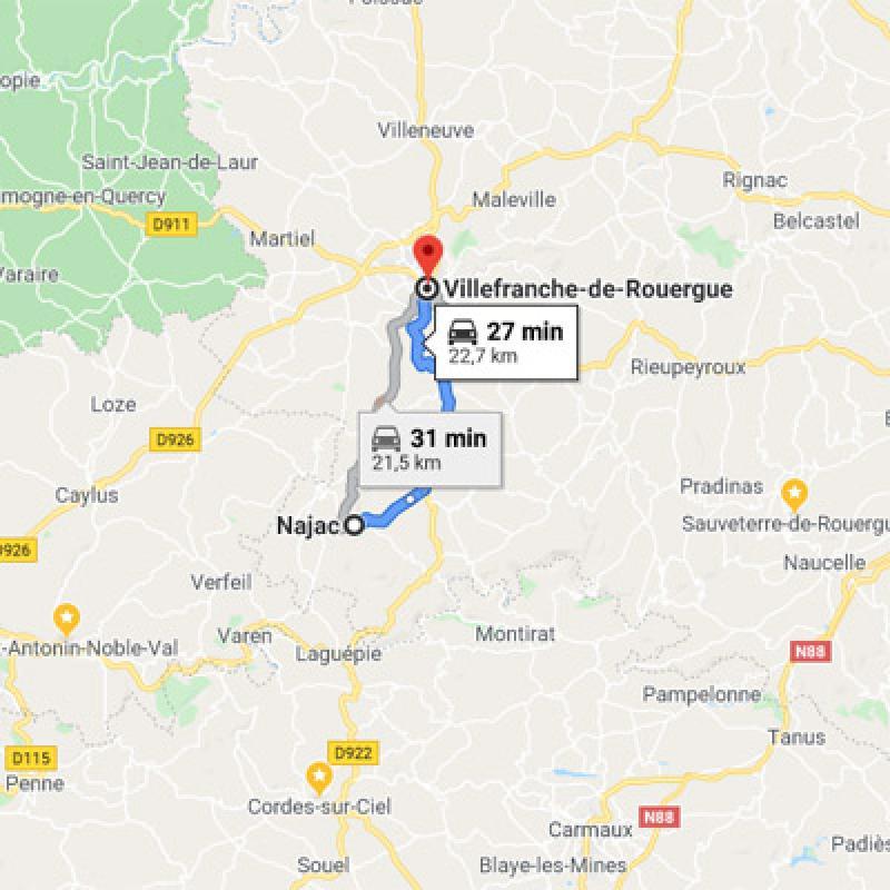 Najac vers Villefranche