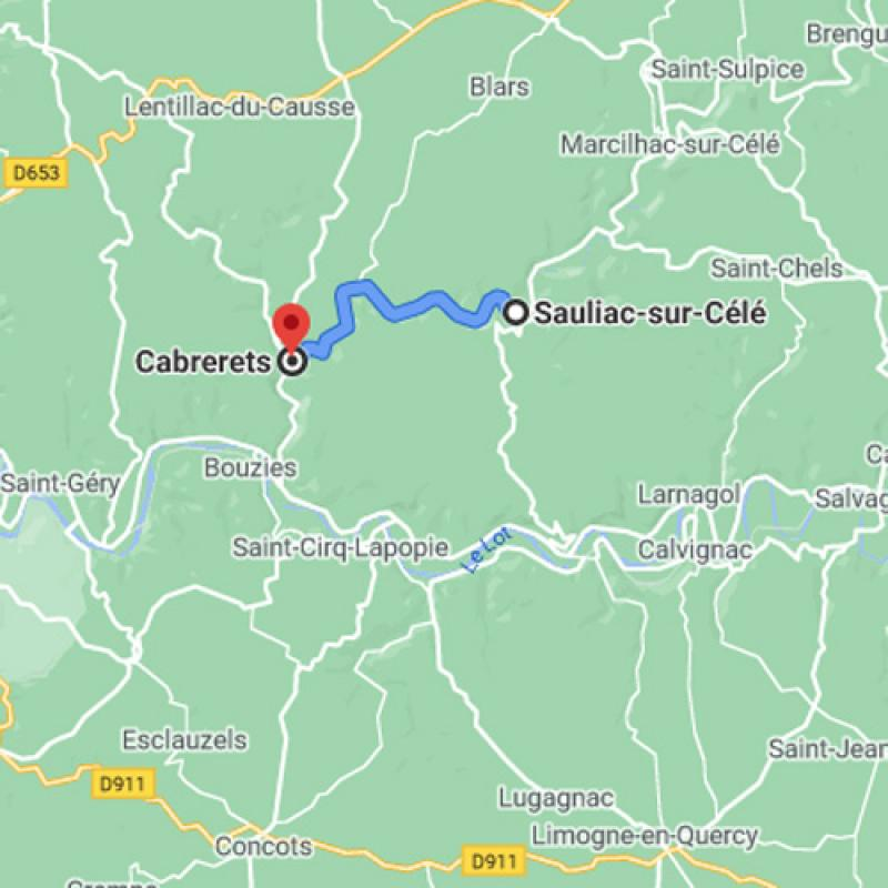 De Sauliac vers Cabrerets