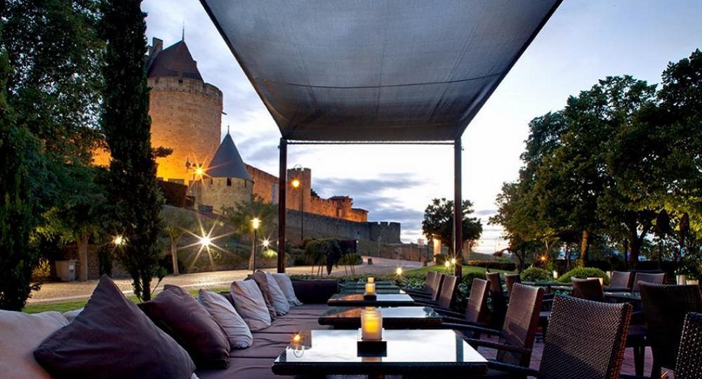 hotel du chateau terrasse vue sur la cité