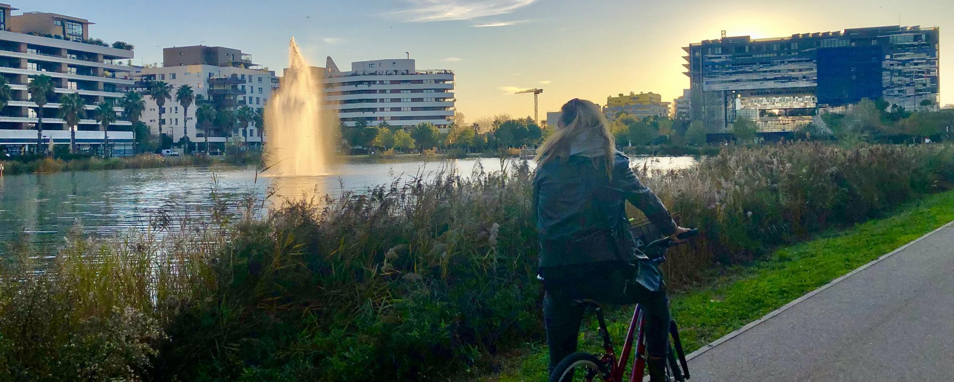 Vélo bassin Jacques Coeur Montpellier